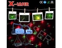 X-LASER Dekorační laserový projektor - 2 vzory